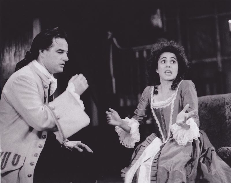 With Robin Kingsland in She Stoops to Conquer